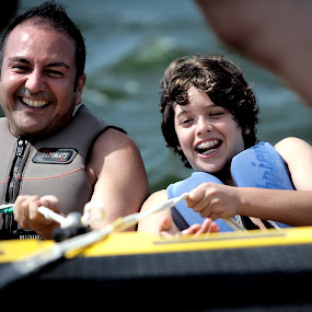 Happy by Cristobal Garciaferro Rubio - People Group/Corporate ( water, laugh, couple, boy, man )