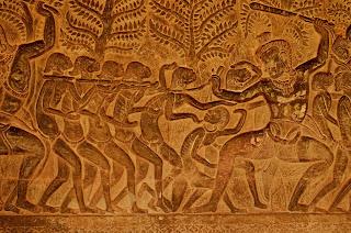 Relief w Angkor Wat: Piekło.