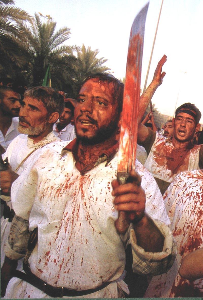 Shiite Muslim Iraqis cut