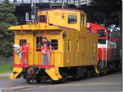 IMG_2914 Union Pacific CA-4 Caboose #25198 in Portland, Oregon on May 8, 2010