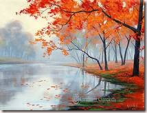 AUTUMN OIL PAINTING