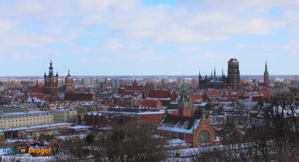 Gdańsk zimą z Góry Gradowej