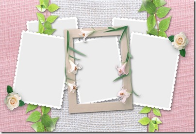 Marvelous Photo Frame with Light Pink Background sample