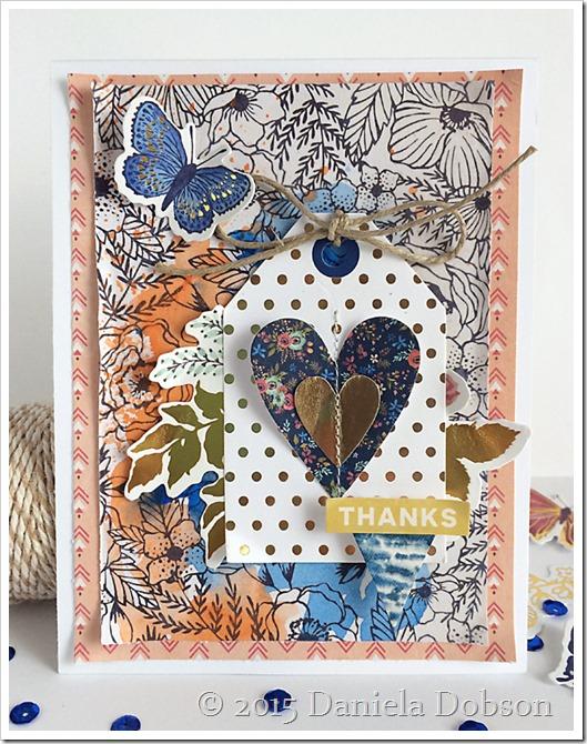 Thanks card by Daniela Dobson