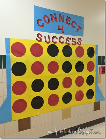 Connect 4 classic board game theme bulletin board