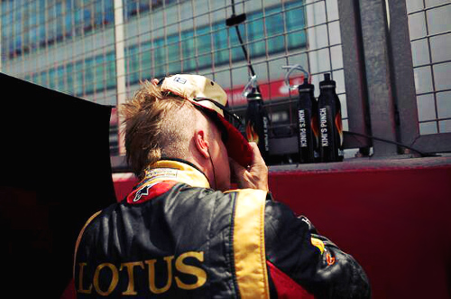 новая прическа Кими Райкконена на Гран-при Великобритании 2013