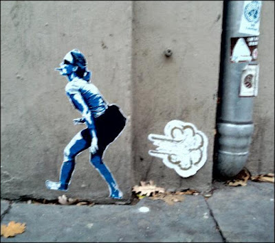 pups, flatus, blähungen streetart
