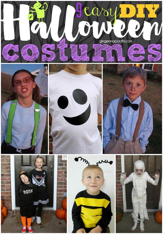 9 Easy DIY Halloween Costumes at GingerSnapCrafts.com