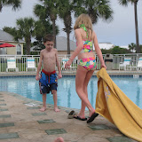 Hannah and Bryan at the pool in Destin FL 03182012