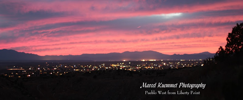 Marcel Kuemmet photography, Pueblo West as viewed from Liberty Point