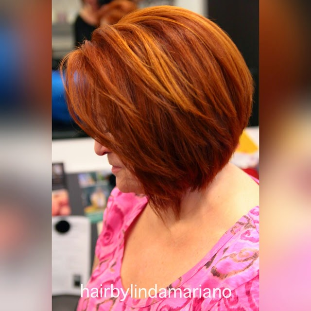 Red Hair With Hand Painted Highlights Salon Talk Now By Linda