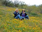 Melissa & Kathy in poppy field 3/23/10