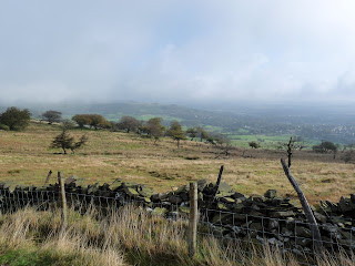 A misty Buxton and surroundings