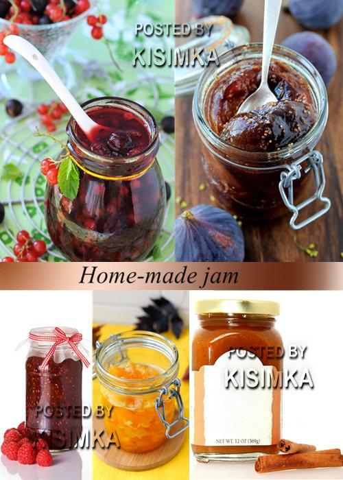 Stock Photo: Home-made jam