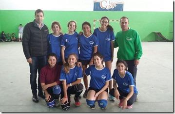 Juan Pablo de Jesús acompañó a los jóvenes deportistas de la Liga Municipal de Handball