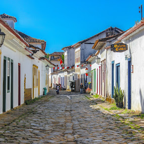 Streets of Paraty by Alexandre Rios - Buildings & Architecture Homes ( brazil, paraty, houses, old, rio de janeiro, street, historic district, town, historic, city )