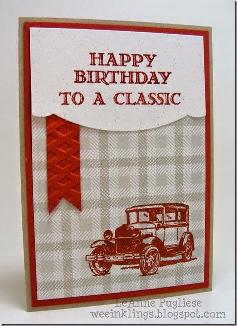 LeAnne Pugliese WeeInklings Guy Greetings Classic Car Birthday Stampin Up 2