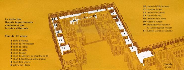 plan des grands appartements