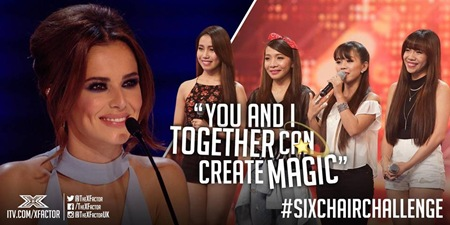 4th Power during 6 Chair Challenge - X Factor UK