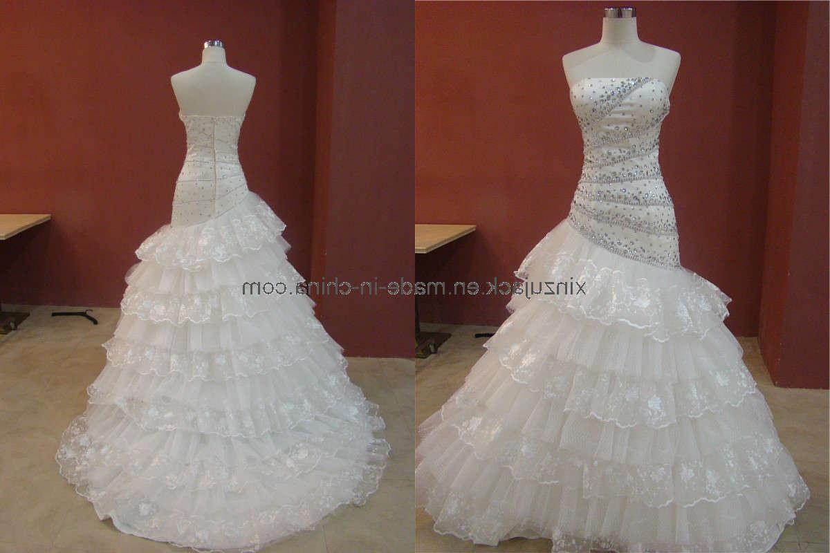 Train Beaded Wedding Gown