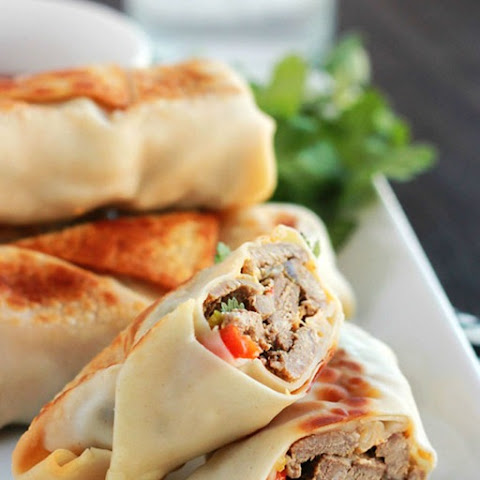 Baked Philly Cheesesteak Egg Rolls