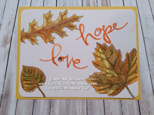 Gettin Crafty Stampin with JamieLove and Hope in this Fall