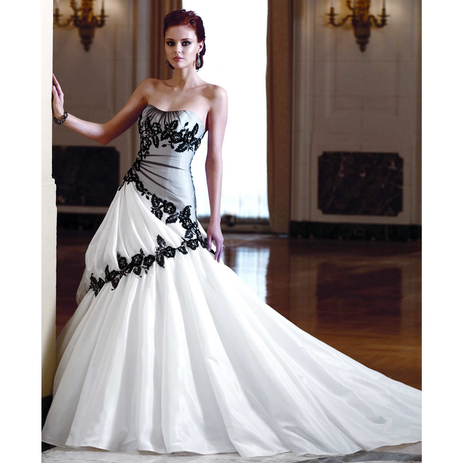Elegant wedding dress is a