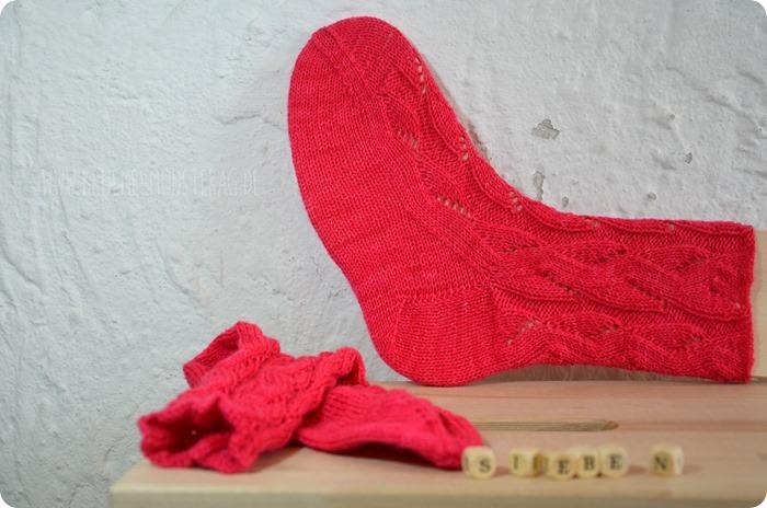 Sieben 20fünfzehn (03) Tausendschön Pink Muster Pink Gr. 37_38