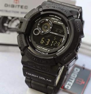 Jual jam tangan Digitec Mudman DG2028 fullblack rubber Original