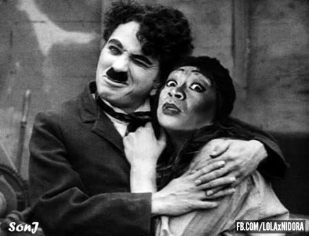 Lola Ni Dora throwback photo - Charlie Chaplin
