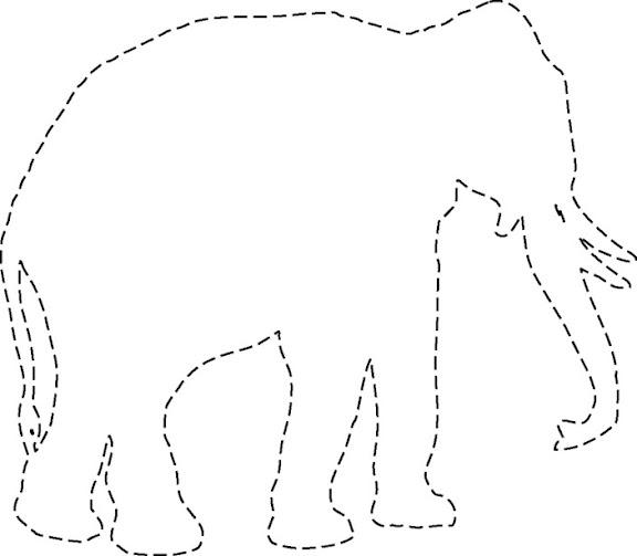 Siluetas de elefantes para imprimir - Imagui