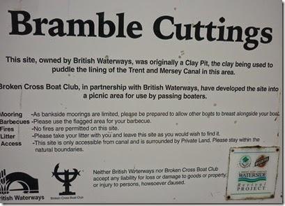 13 bramble cuttings moorings