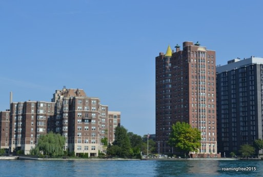 High Rise Apartments on the Detroit River