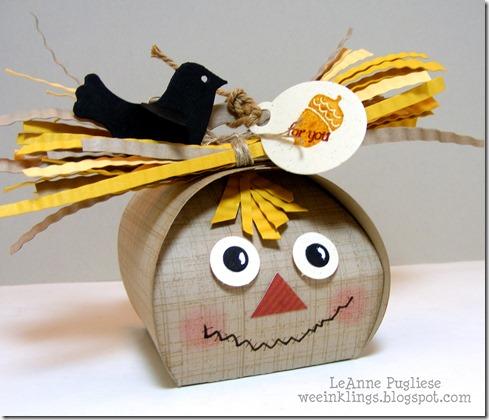 LeAnne Pugliese WeeInklings Curvy Keepsake Box Scarecrow