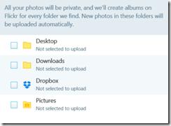The default directories uploadr will scan