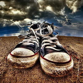 Converse Storm by Ivan Tomaš - Artistic Objects Clothing & Accessories ( all star, converse, dark clouds, sneakers, , artistic, object )