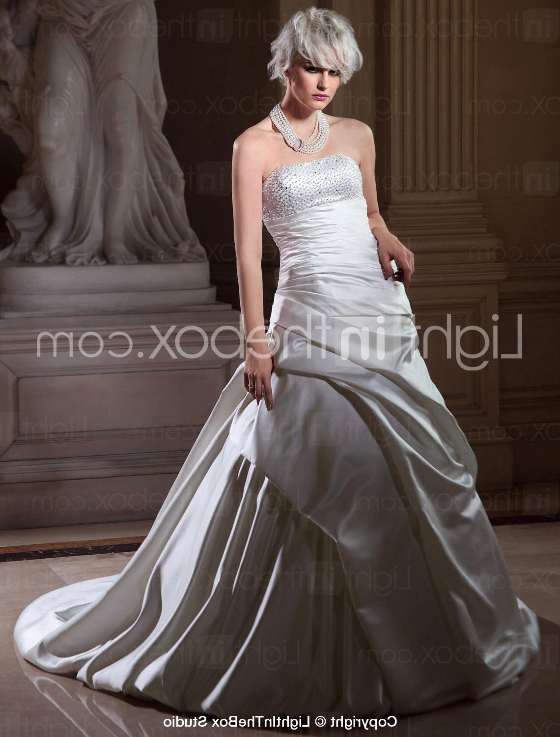 Side-draped Wedding Dress