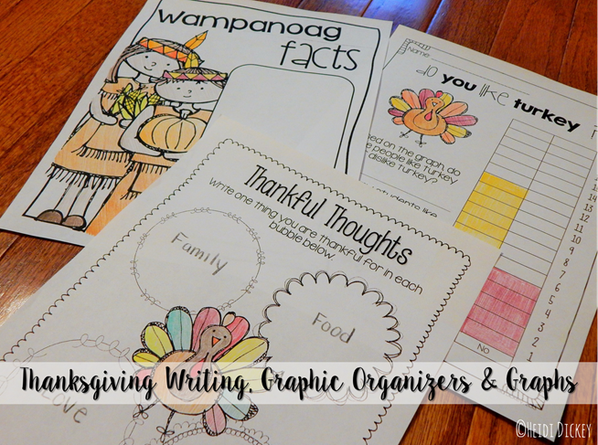 Thanksgiving Writing Graphic Organizers & Graphs