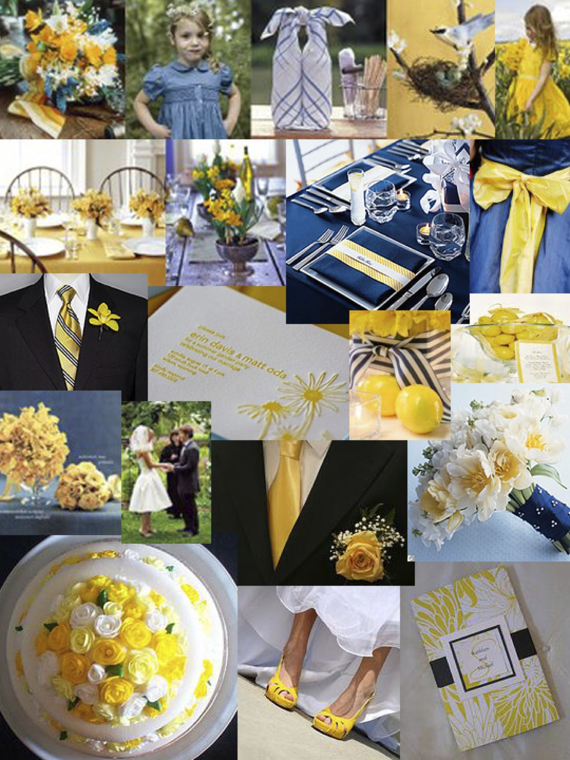 Blue And Yellow Weddings The