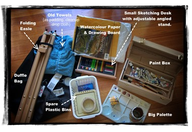 "Contents of my ""fold out"" Studio Duffle Bag"
