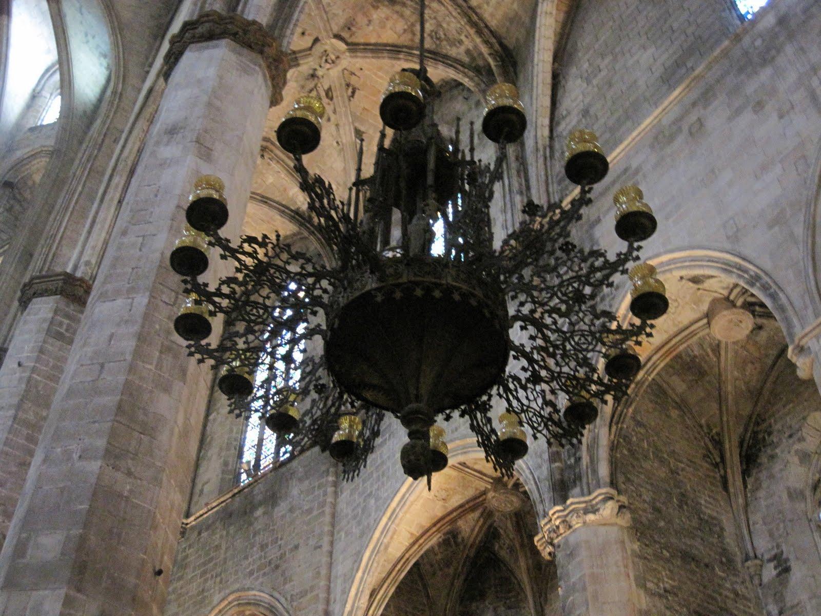 a Gothic church. The decor