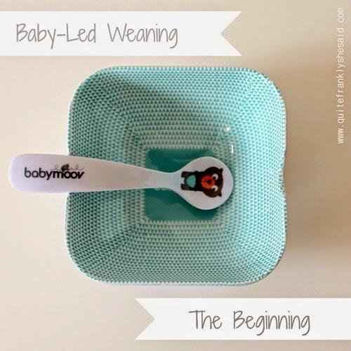 babyled weaning beginning
