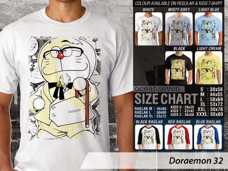 KAOS Doraemon 32 Manga Lucu distro ocean seven