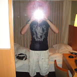 taking a pic in my hotel room in Osaka, Osaka, Japan