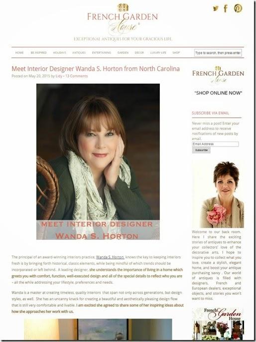 Wanda S. Horton - French Garden House Feature