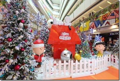 Xmas Decor in HK 2015 觀塘apm Snoopy飛越夢想聖誕佈置 (Photo taken from Elle.hk)