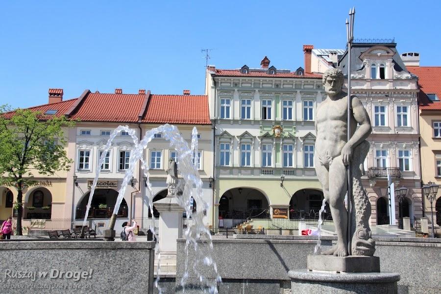 Bielsko-Biała - Pomnik Neptuna na rynku