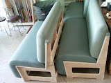 upholstered for a local millwork company