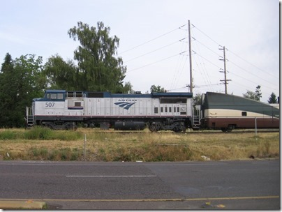 IMG_7140 Amtrak B32-8WH #507 in Canby, Oregon on June 27, 2007
