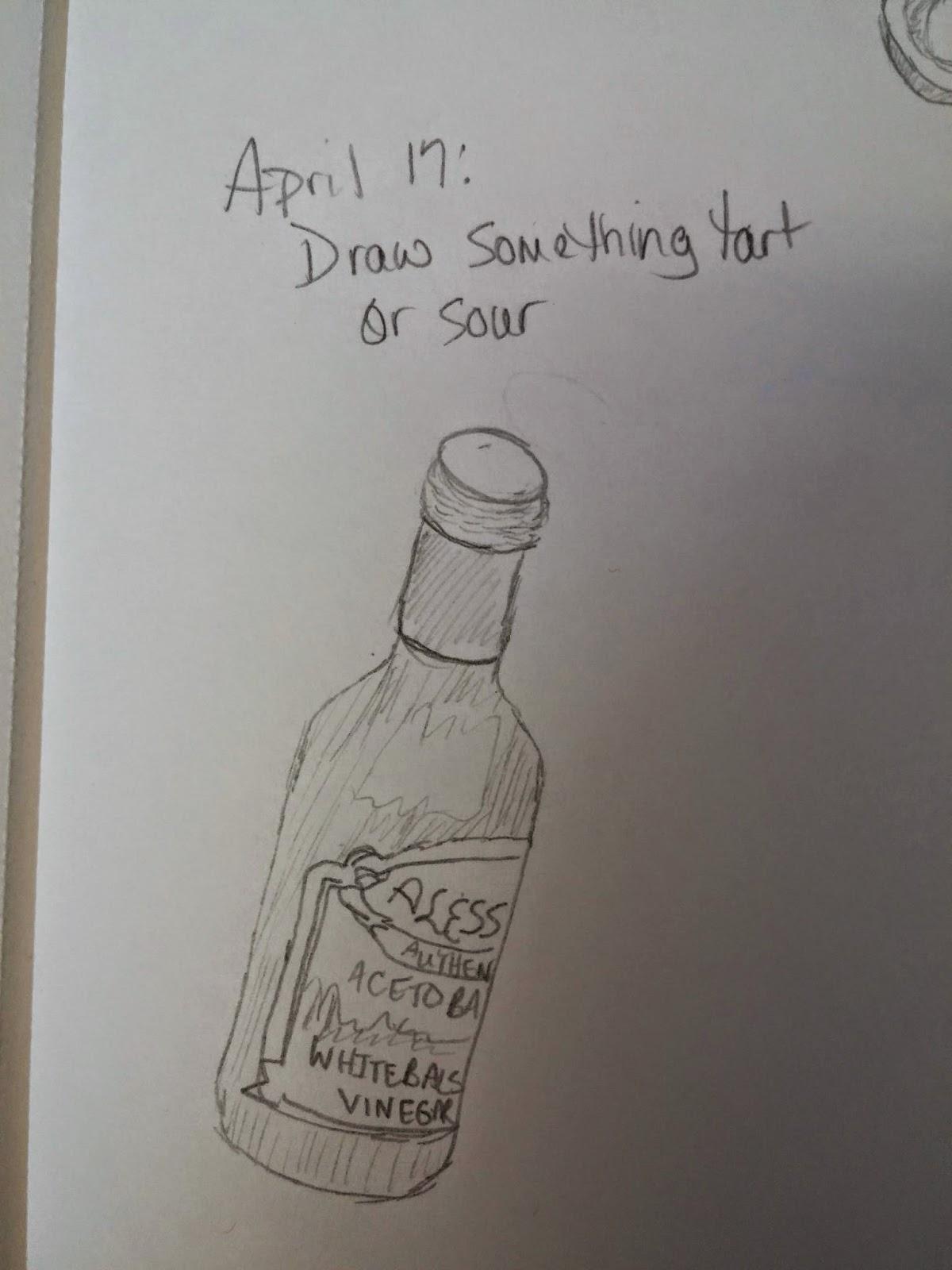 My Sketching Challenge 2015 April 17 Draw Something Tart Or Sour
